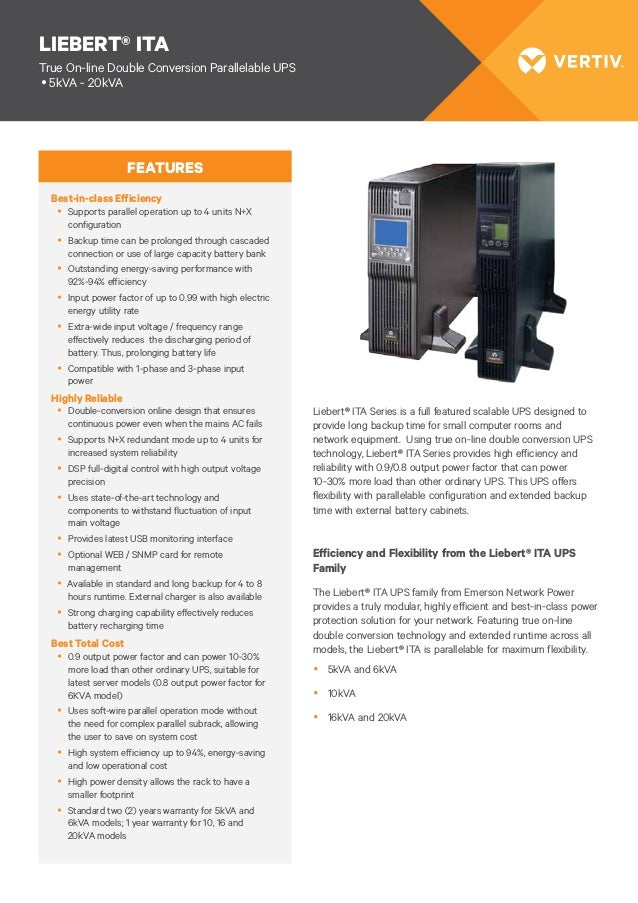 Liebert ita-10 kva, Emerson Bangladesh, Online UPS Bangladesh