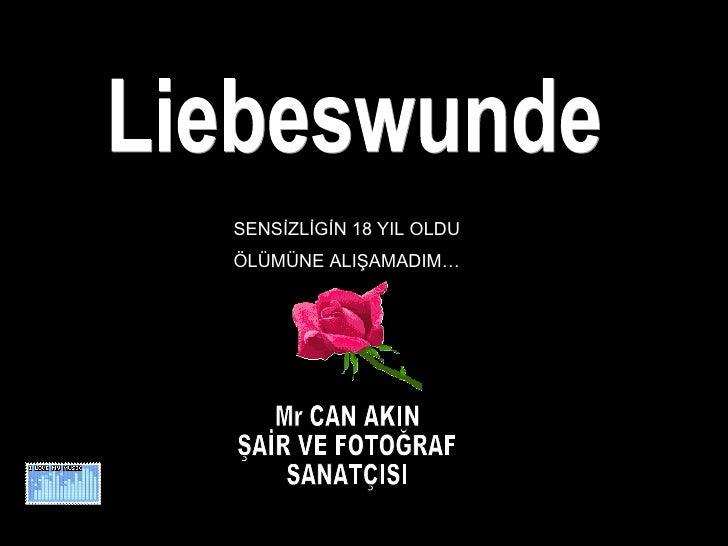 Liebeswunde Mr CAN AKIN ŞAİR VE FOTOĞRAF SANATÇISI SENSİZLİGİN 18 YIL OLDU ÖLÜMÜNE ALIŞAMADIM…