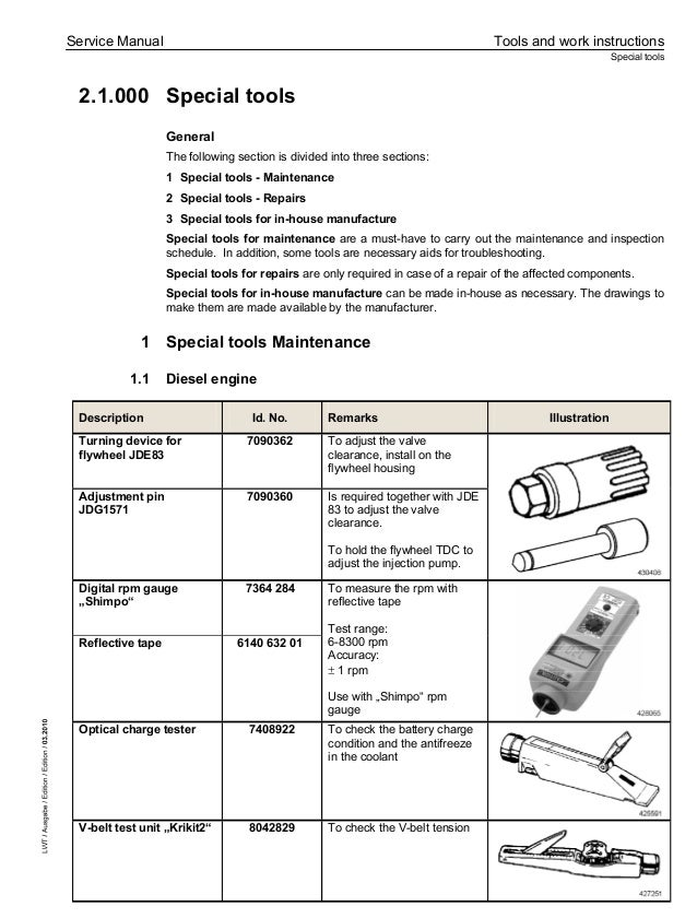 Liebherr Tl 445 10 Telescopic Handler Service Repair Manual