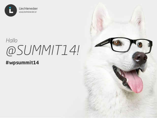 Liechtenecker Liechtenecker www.liechtenecker.at Hallo @SUMMIT14!