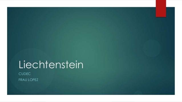 Liechtenstein CUDEC FRAU LOPEZ