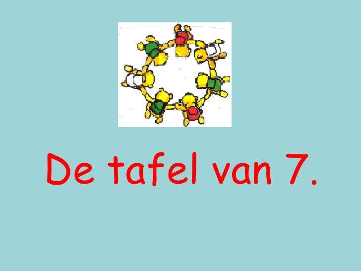 tafel van 7