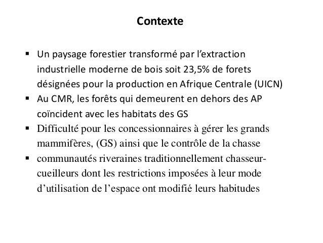 Lien entre exploitation forestière, conservation et pauvrete autour de l'ufa 09025 et du parc national de campo  simeon abe ey Slide 3