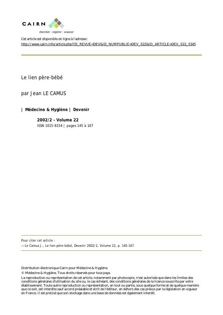 Cet article est disponible en ligne à l'adresse : http://www.cairn.info/article.php?ID_REVUE=DEV&ID_NUMPUBLIE=DEV_022&ID_A...
