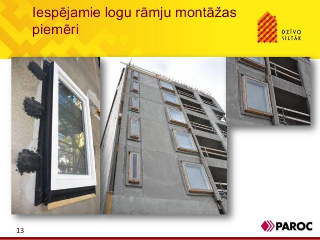 Iespējamie logu rāmju montāžaspiemēri13