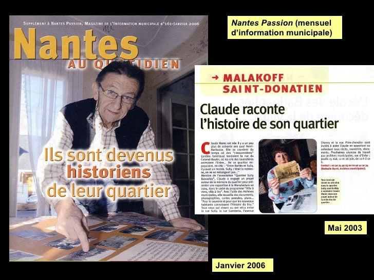 Nantes Passion  (mensuel d'information municipale) Mai 2003 Janvier 2006