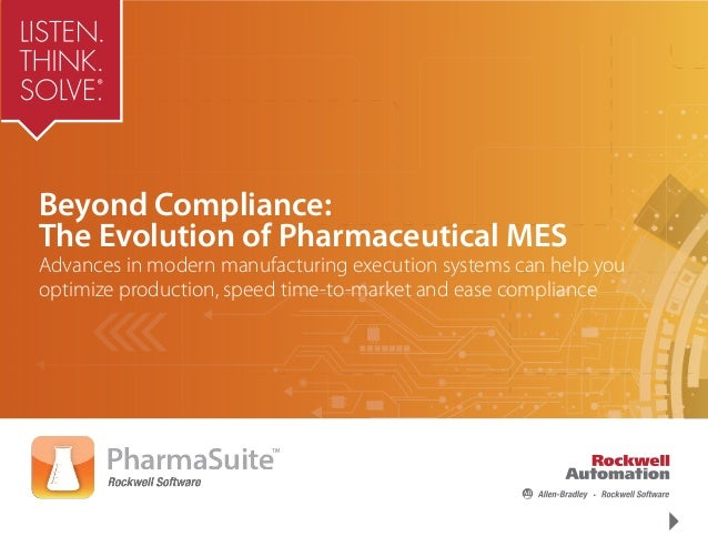 Pharmasuite Manufacturing Execution System Mes Software