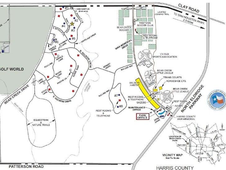 Bear Creek Park Map | compressportnederland