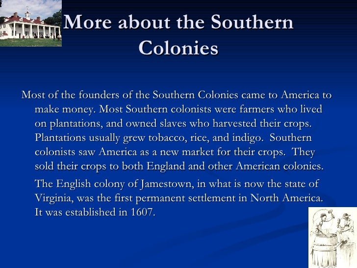 Northern and southern british colonies of north america essay