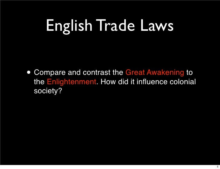 compare and contrast the enlightenment and the great awakening