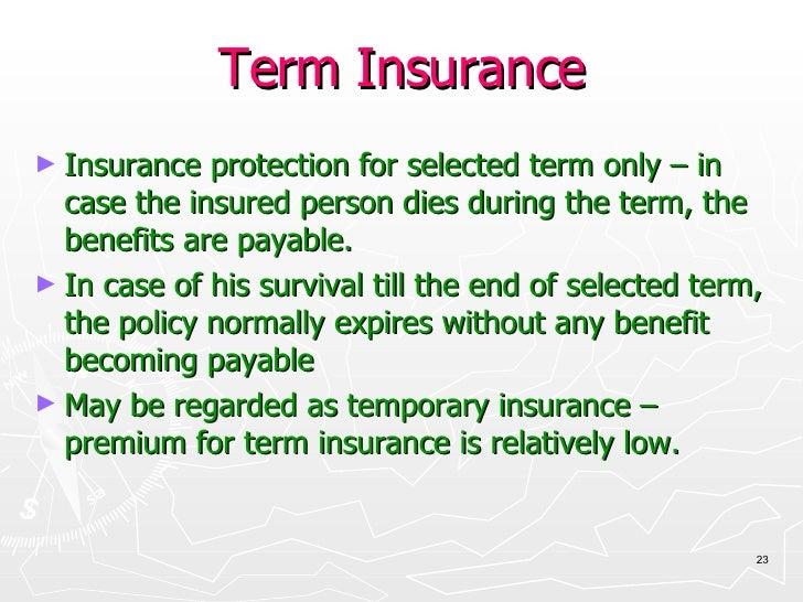 Term Life Insurance Definition - Insurance