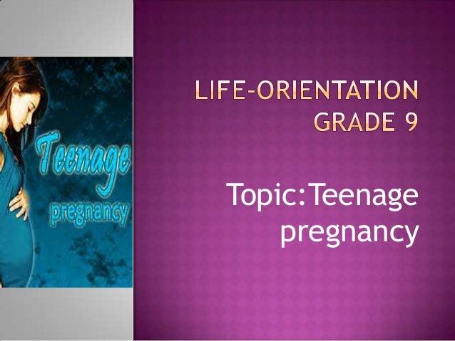 Life orientation Grade 9 Teenage Pregnancy