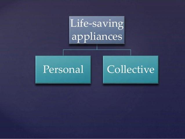 Life saving appliances Slide 2