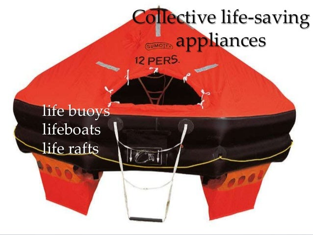 Life saving appliances Slide 3