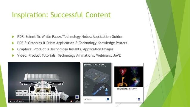Inspiration: Successful Content u PDF: Scientific White Paper/Technology Notes/Application Guides u PDF & Graphics & Print...