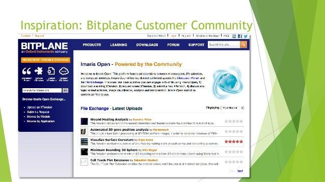 Inspiration: Bitplane Customer Community
