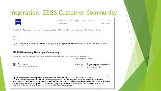 Inspiration: ZEISS Customer Community