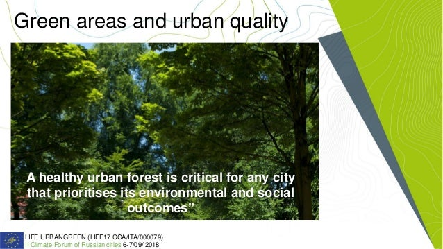 Urban Green Areas and Climate Change Slide 2