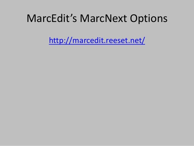 Life after MARC: Experimenting with Cataloging Tools of the Future