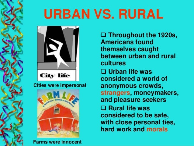 urban rural culture wars 1920