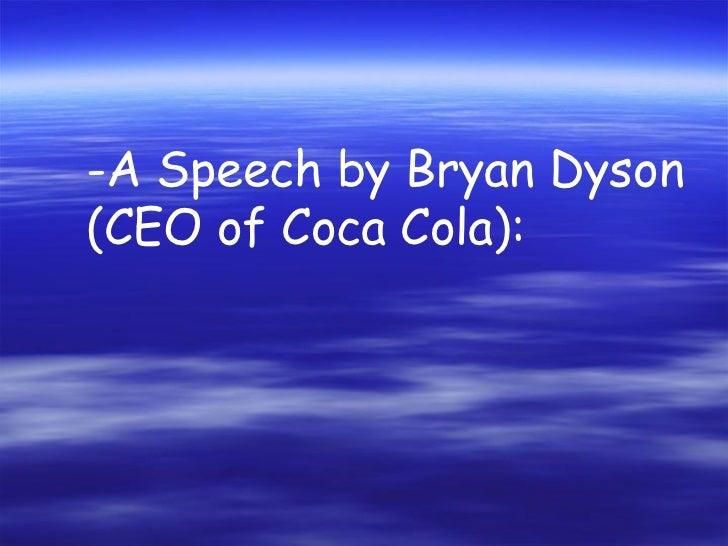 Bryan dyson coca cola фен дайсон суперсоник цена москва