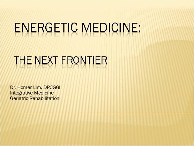 Dr. Homer Lim, DPCGGIIntegrative MedicineGeriatric Rehabilitation