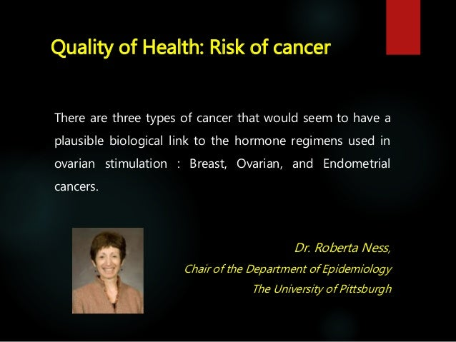 Quality of Health: Risk of NON Gynaecological cancer  Exogenous hormones administered for infertility treatment might be ...