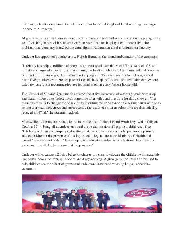 Lifebuoy launches 'Sch...