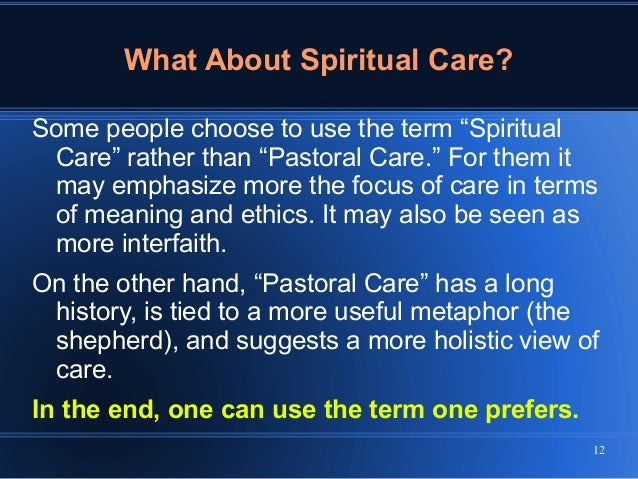Models of Pastoral Care and Counseling
