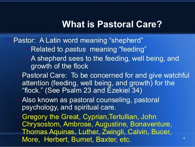 pastoral care and counseling Build your resume with top accreditation and an in-depth look at each aspect of traumatology, pastoral care, and counseling, and marriage and family counseling.