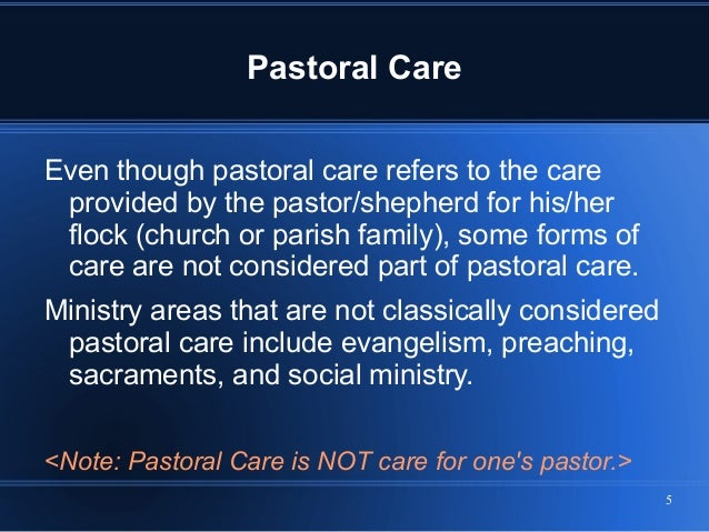 1 pastoral care and counseling In 1966 don browning's the moral context of pastoral care reminded pastoral counselors that the religious and ethical dimensions of pastoral counseling were.