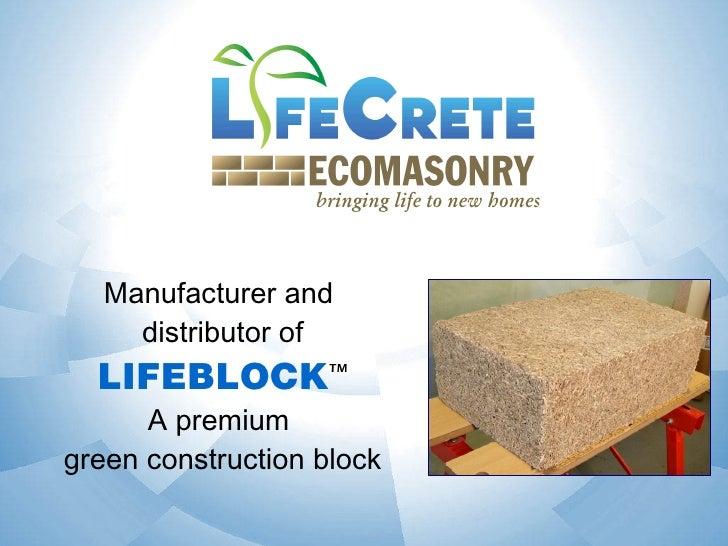 LifeCrete EcoMasonry Slide 2