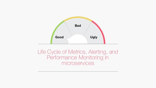 Life Cycle of Metrics, Alerting, and Performance Monitoring in microservices Good Bad Ugly