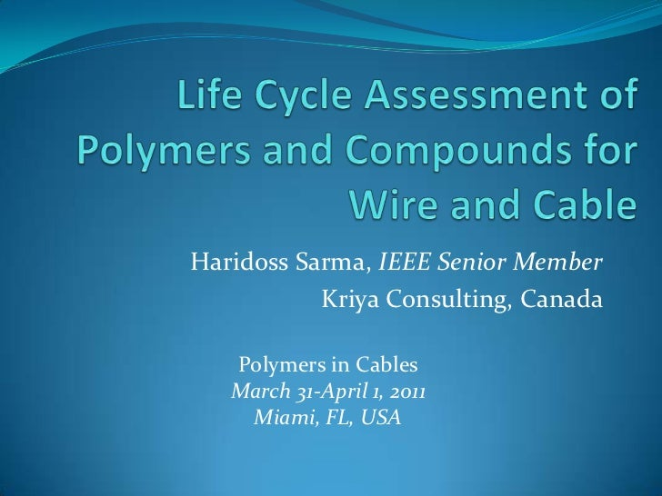 Life Cycle Assessment Of Polymers And Compounds