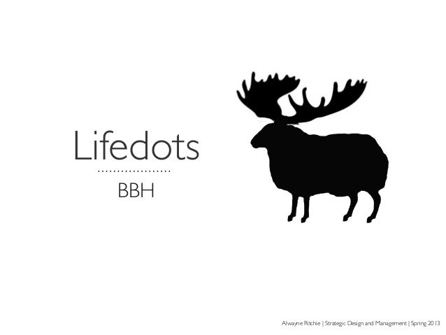 Lifedots BBH Alwayne Ritchie | Strategic Design and Management | Spring 2013