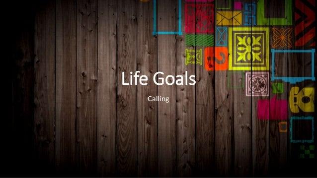 Life Goals Calling