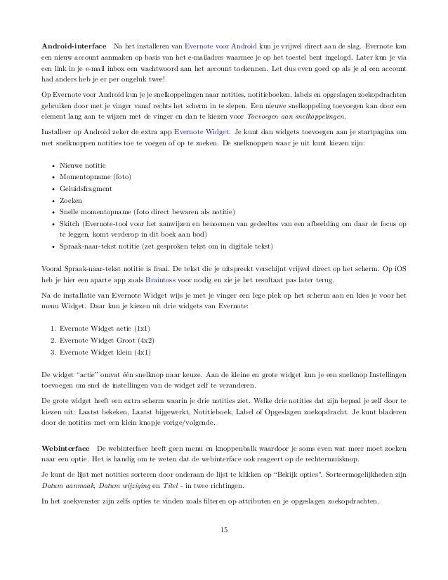 motivatiebrief procesoperator Lifehacking met Evernote motivatiebrief procesoperator