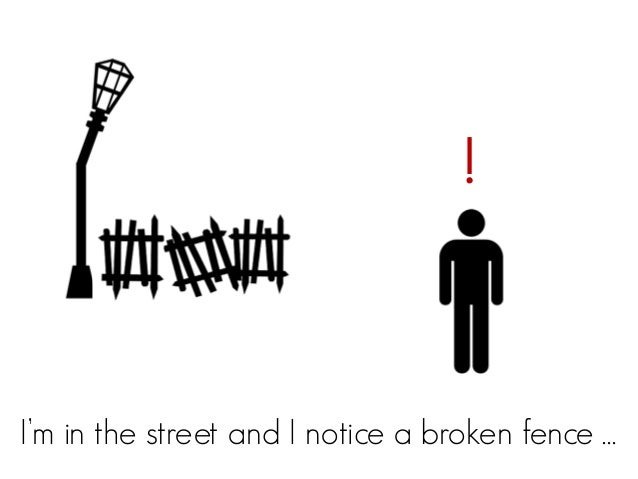 !I'm in the street and I notice a broken fence …