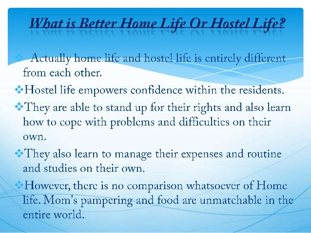 Essay on hostel life with quotations