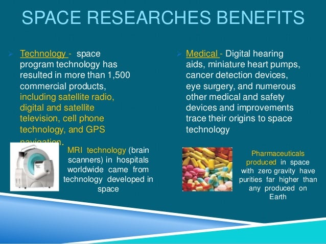 life in a space space researches benefits