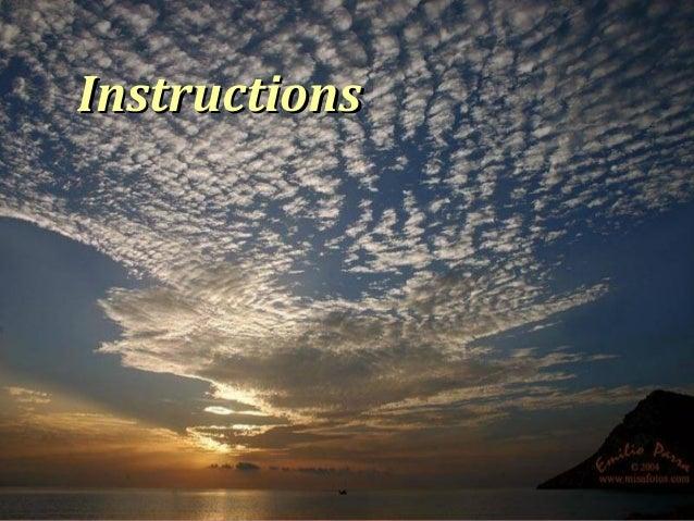 InstructionsInstructions