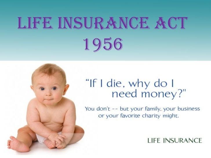 Life insurance act 1956