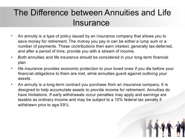 The Difference Between Life Insurance and Annuity
