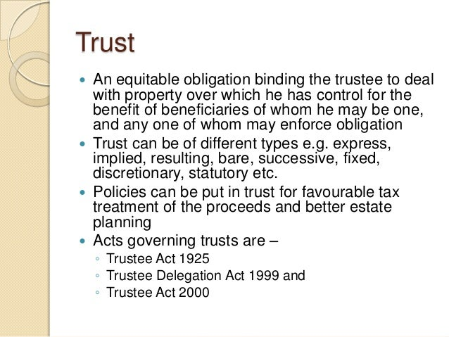 trustee act 2000 essay We will write a cheap essay sample on duties and responsibilities of trustees in section 31 of the trustee act (hernandez,2000) conclusion a trustee is.