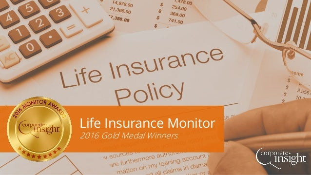 Life Insurance Monitor 2016 Gold Medal Winners