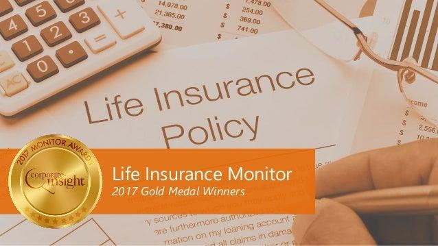 Life Insurance Monitor 2017 Gold Medal Winners