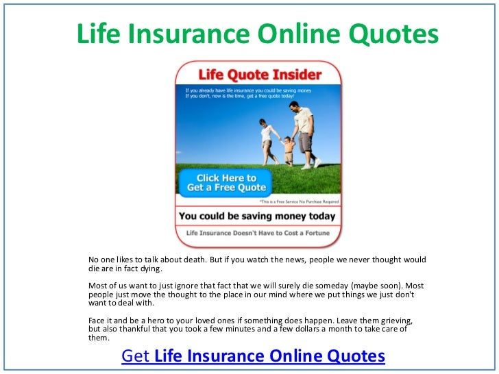 Life Insurance Online QuotesNo One Likes To Talk About Death.