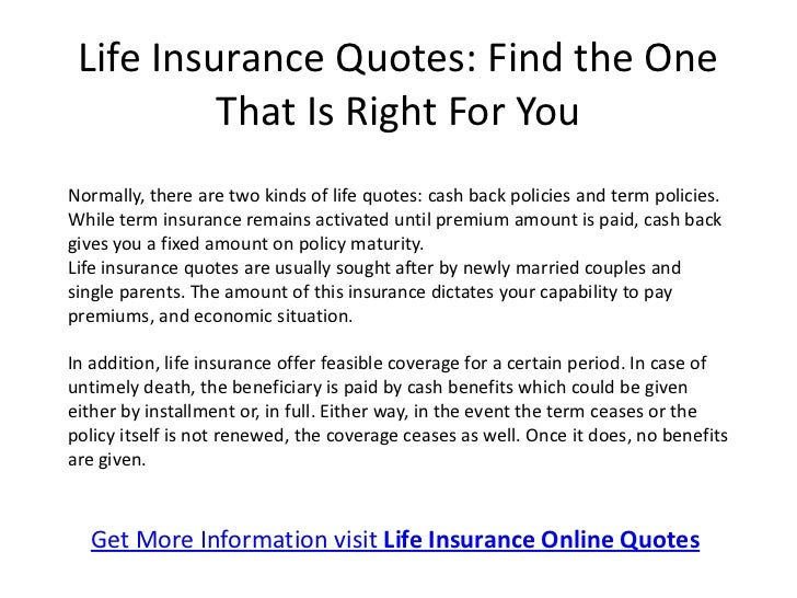 Get Life Insurance Online Quotes; 2. Life Insurance ...