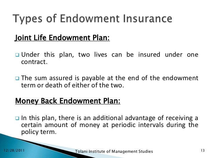 Life insurance ppt 13 joint life endowment plan thecheapjerseys Gallery