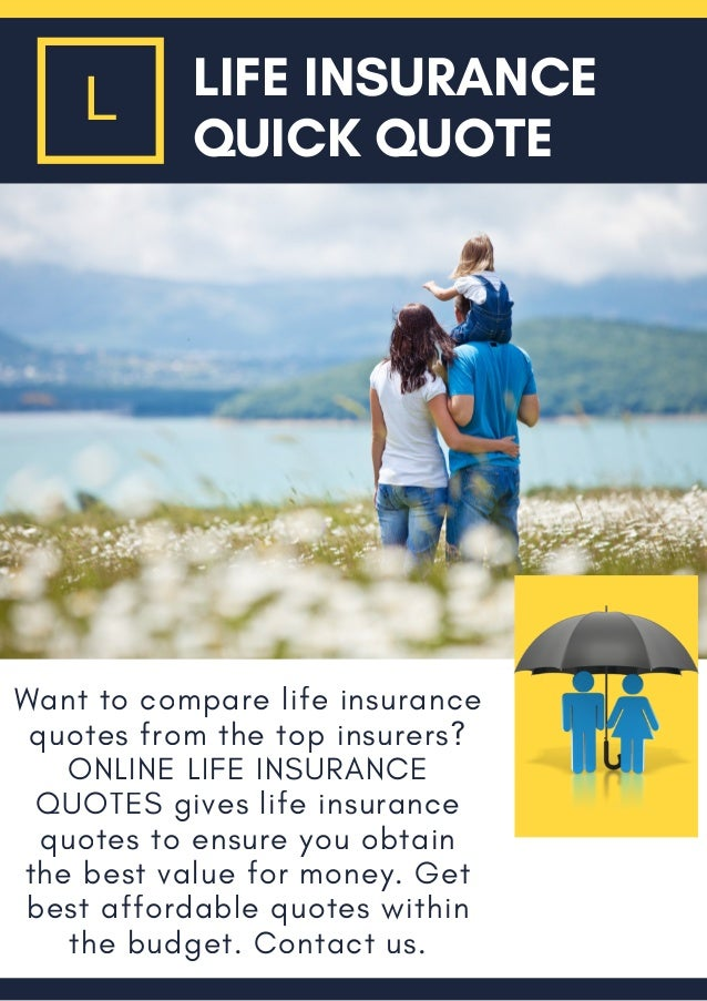 Superb Want To Compare Life Insurance Quotes From The Top Insurers? ONLINE LIFE  INSURANCE QUOTES Gives ...